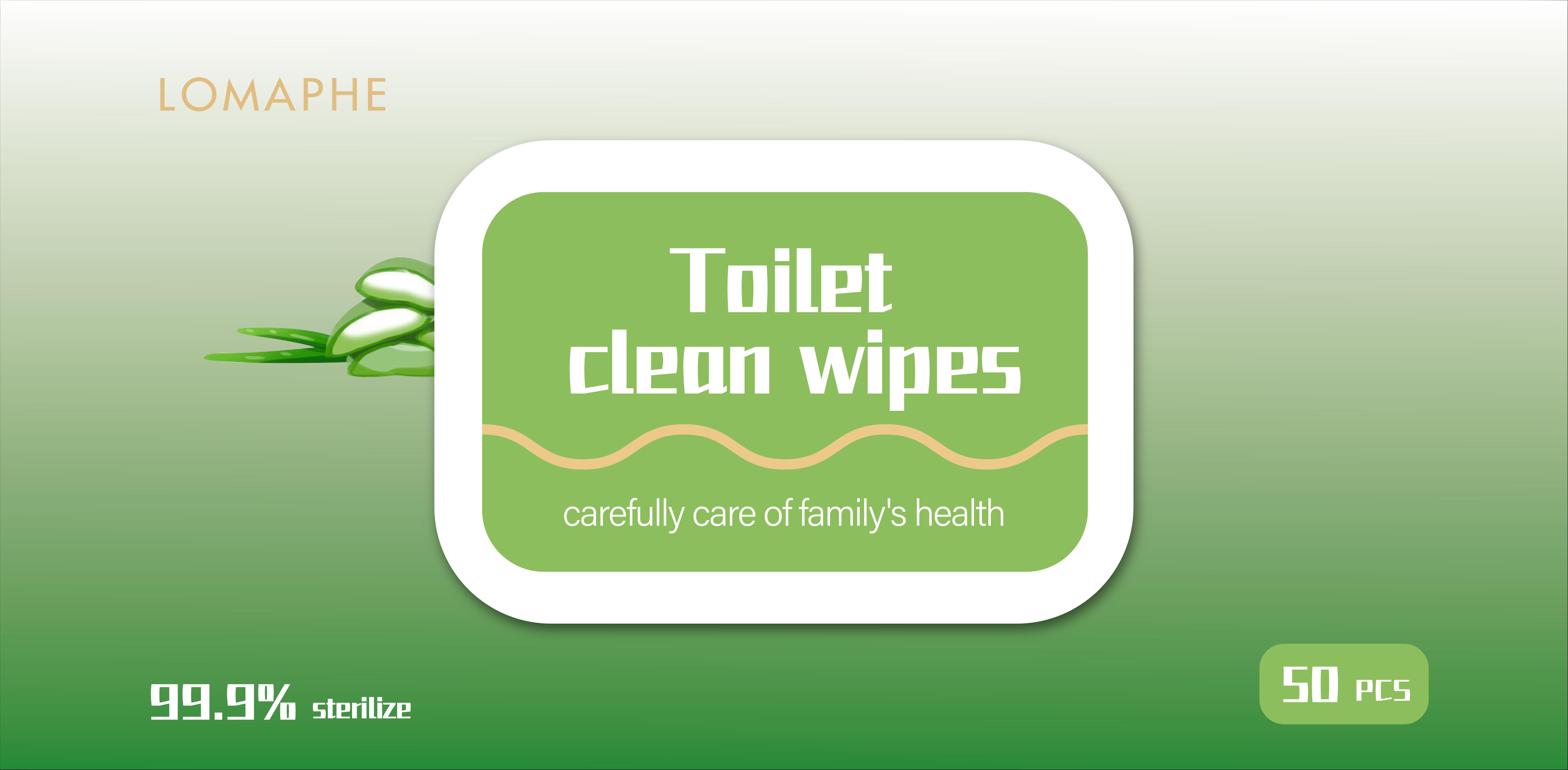 flushable disinfectant toilet wipes