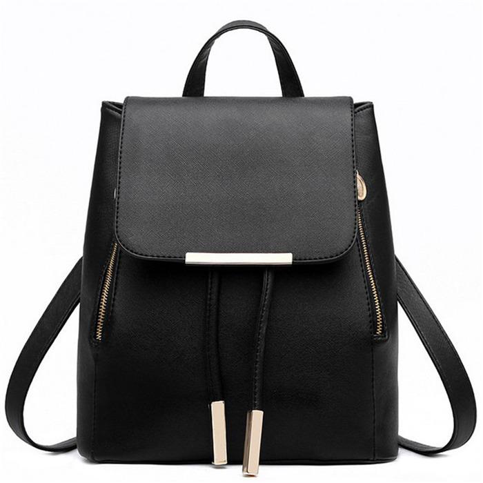 Pu Leather Female Backpacks
