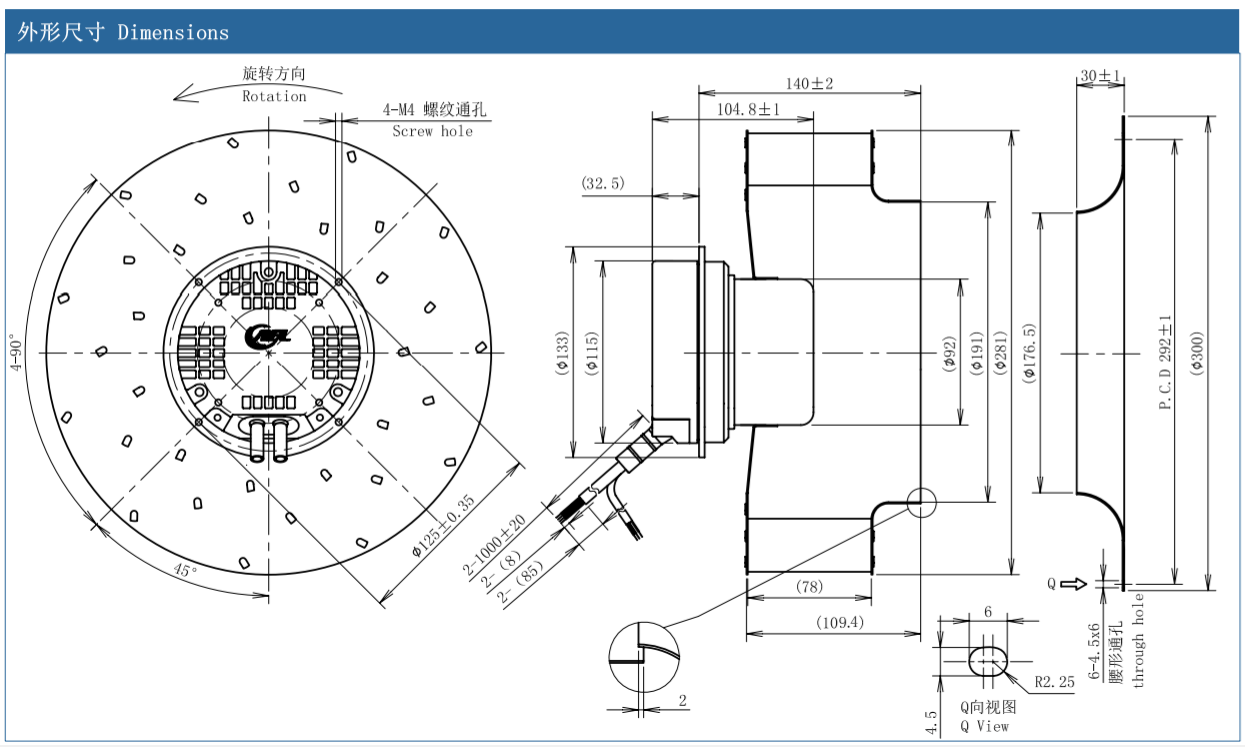 centrifugal fan inlet design