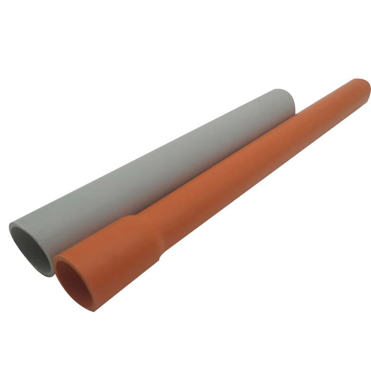 Electrical HD Orange UPVC Electrical Conduit Pipes