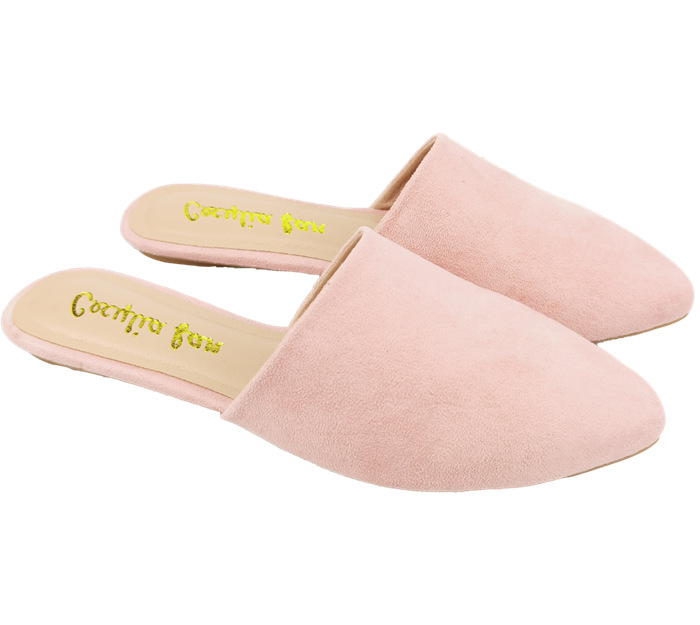 Pink lady's mules