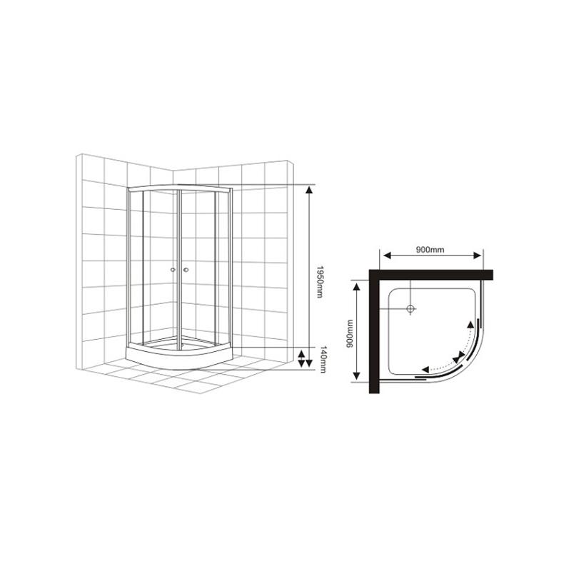 corner shower enclosure kits manufacturers