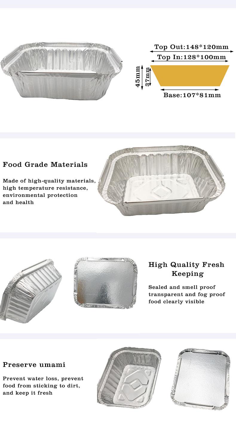 Rectangular aluminum foil tray,Rectangular aluminum foil tray Manufacturers