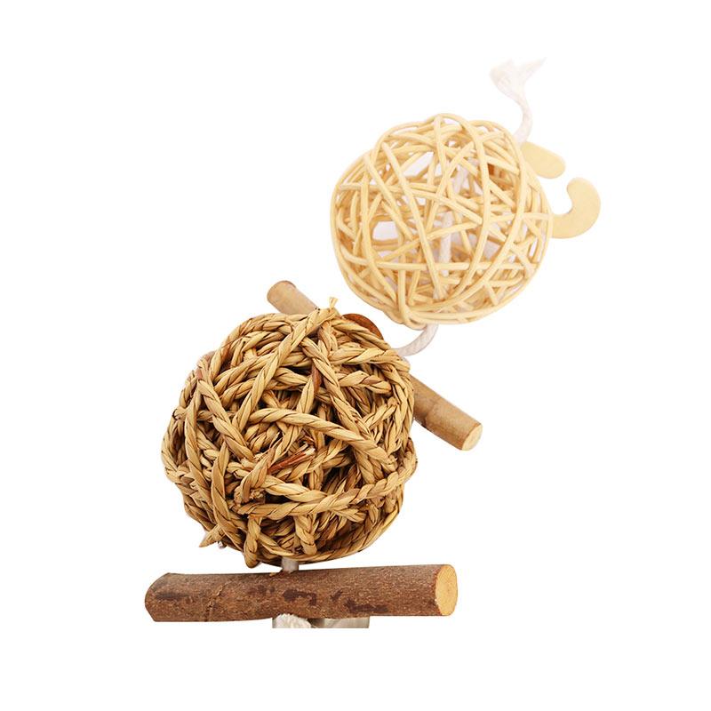 Rattan weaving toys pet