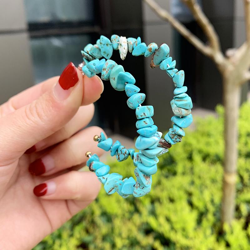blue earrings A40506