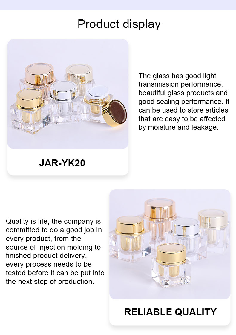 acrylic jars with lids
