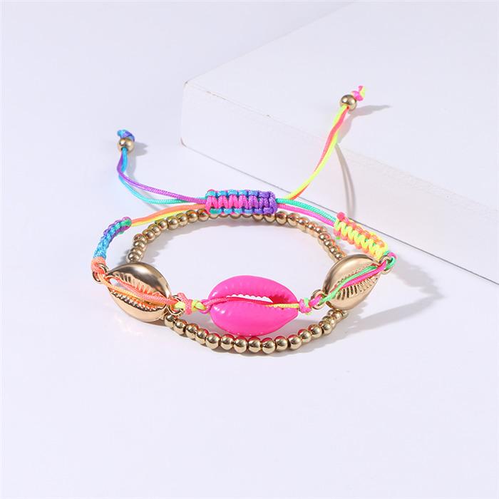 Seashell Knit Bracelet
