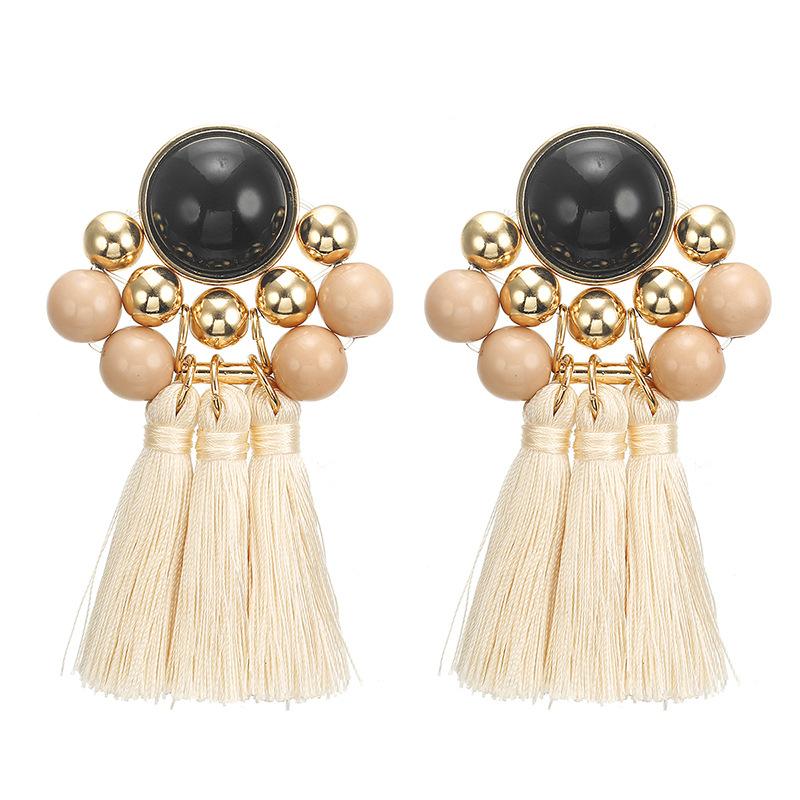 Tassel resin alloy earrings