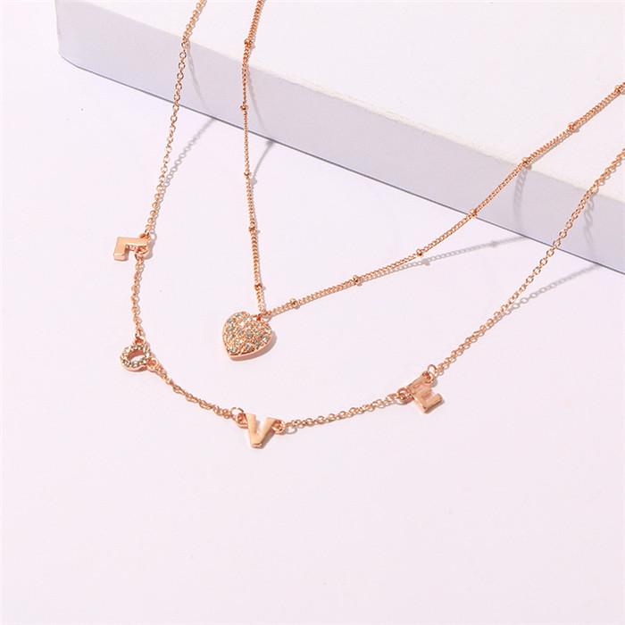 Letters Pendant Necklace