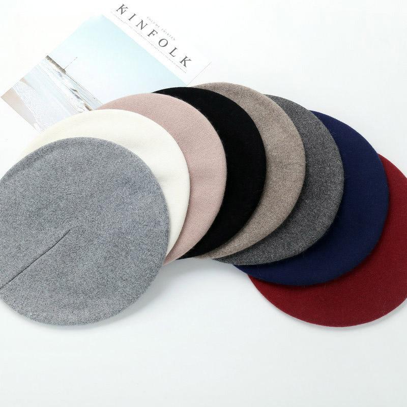 Wool beret painter cap