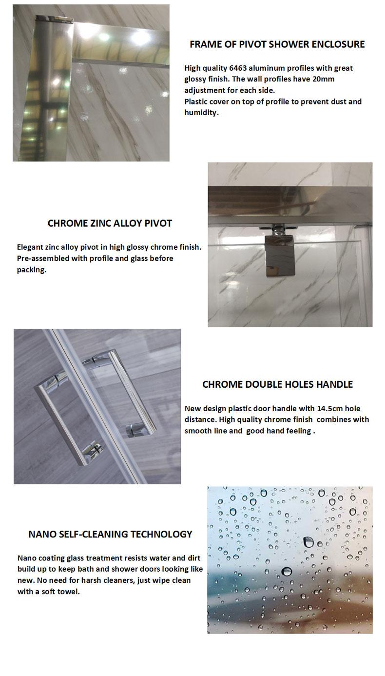 900x1900mm shower doors