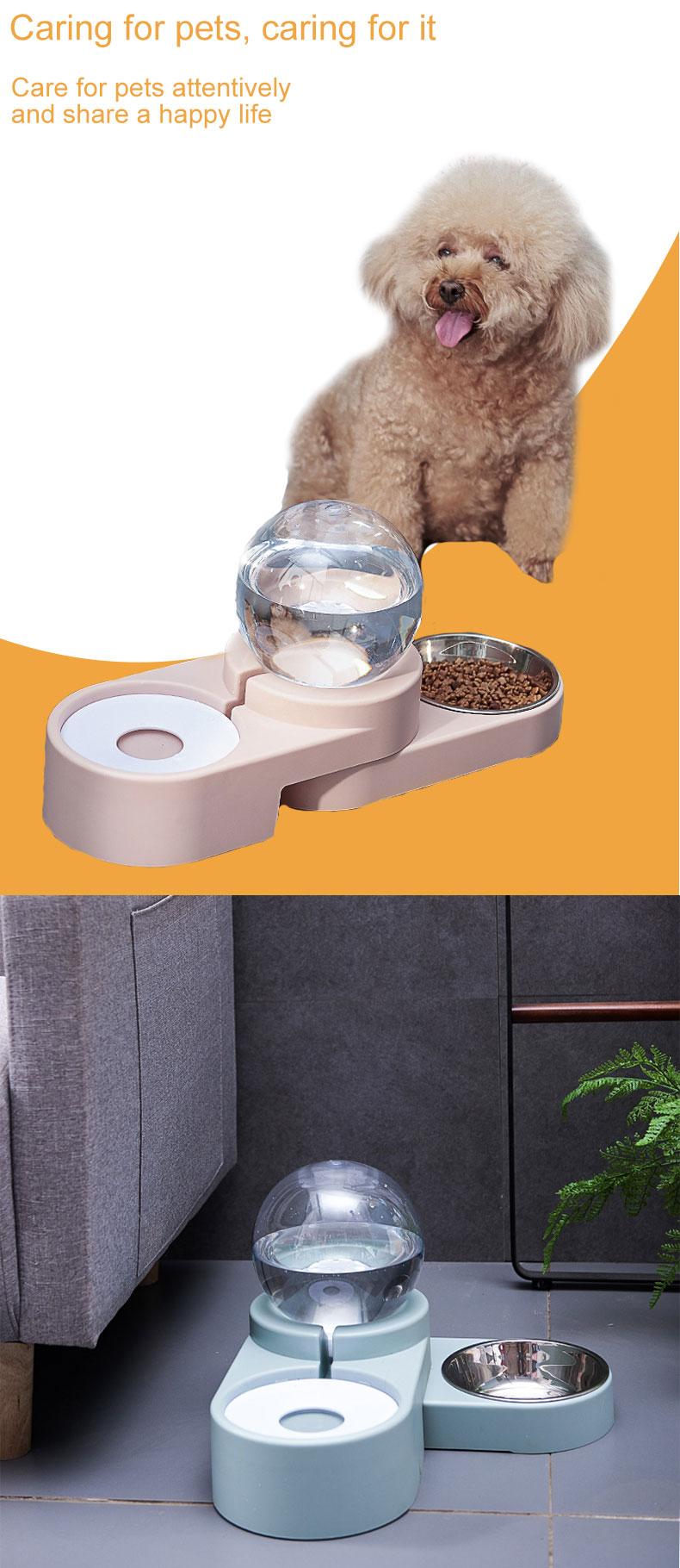bubble ball double bowl pet product