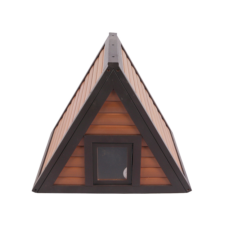 Enclosed wooden plastic triangle cat litter