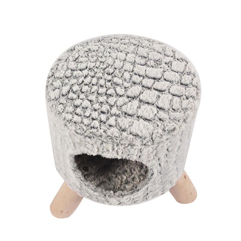 Grey cat nest shoe change stool pet product