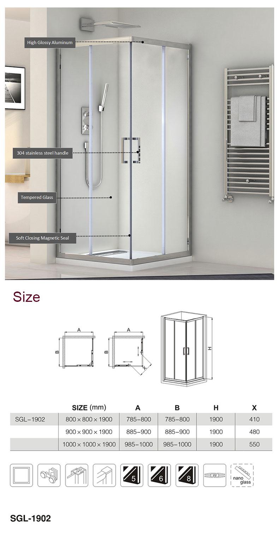 36 x 36 shower enclosure
