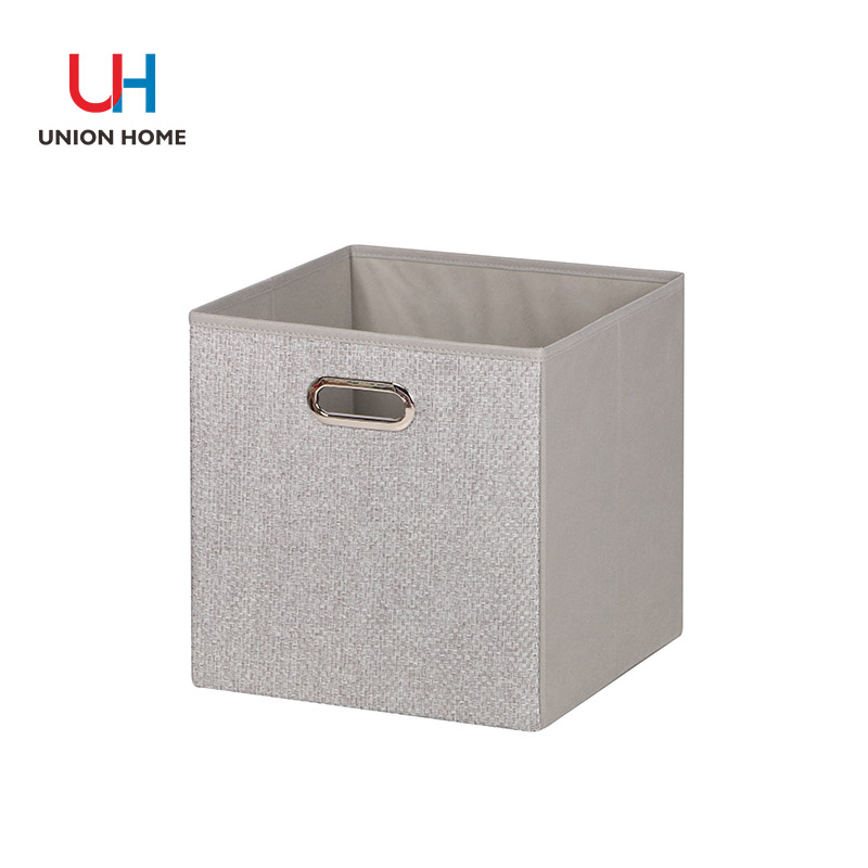 Woven cloth cardboard storage box