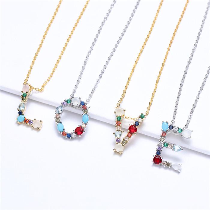 26 Alphabet pendant necklace
