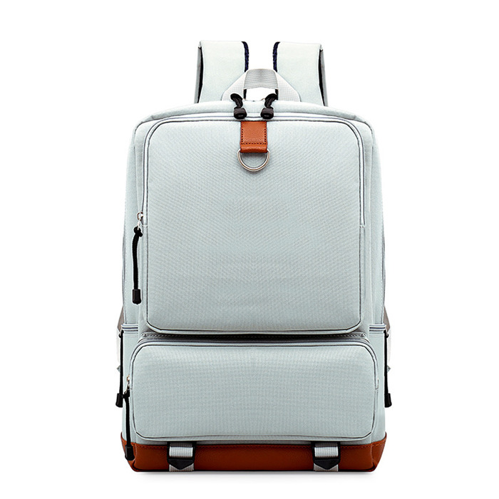 Pure color Oxford men's and women's backpack