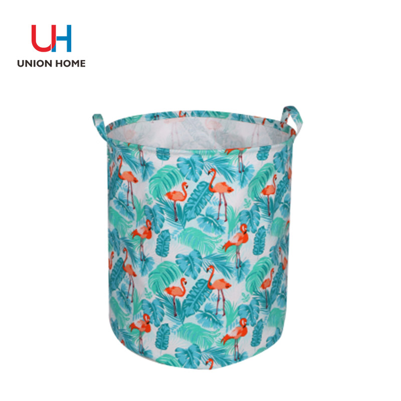 printed canvas with pe coating canvas laundry bin