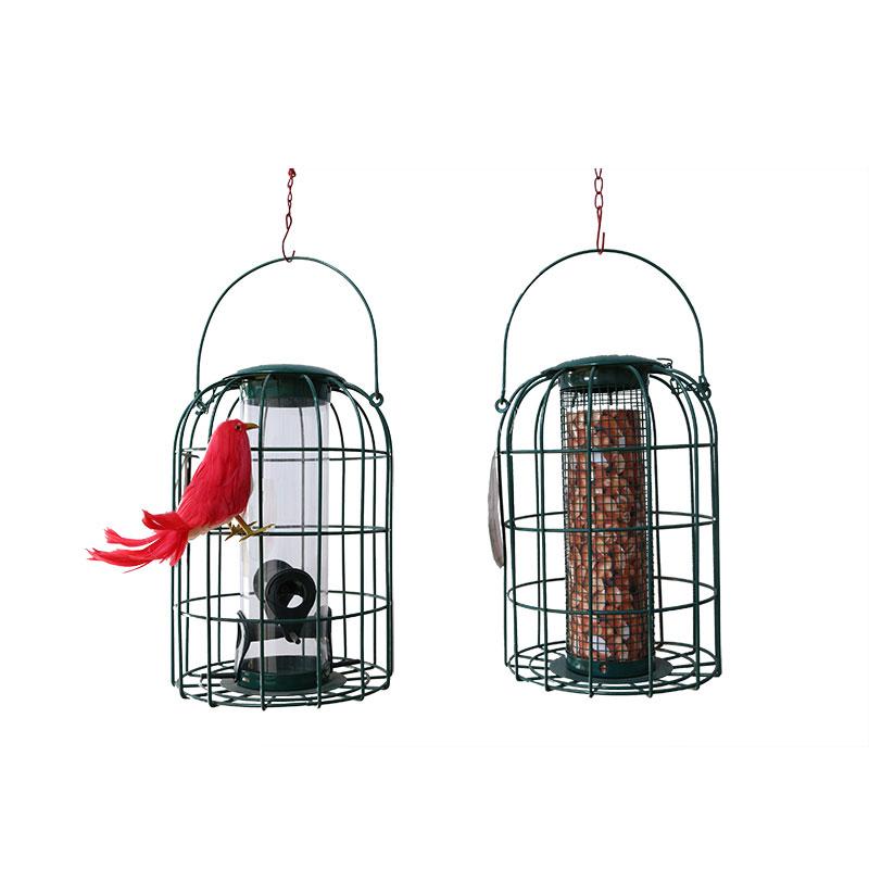 Hanging wire bird feeder pet supplies