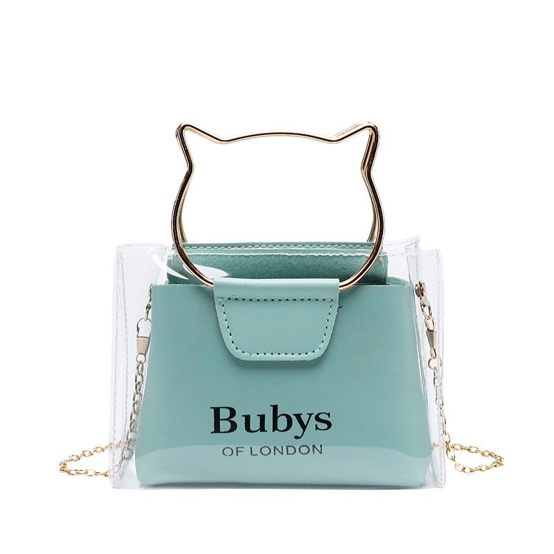 One shoulder chain cat handbags
