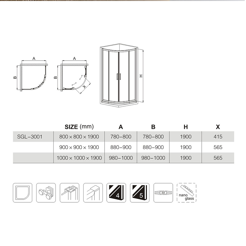 shower enclosures with seat suppliers