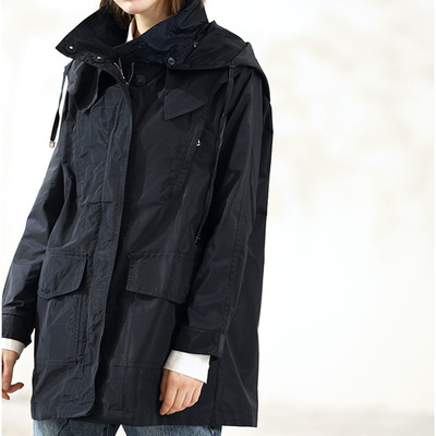 long windbreak jacket