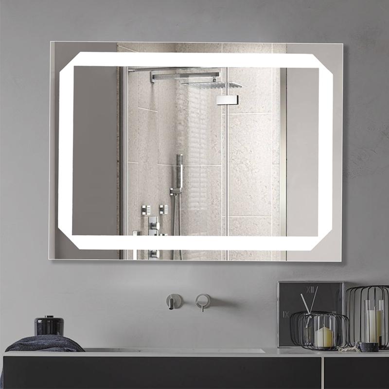Rectangular LED Illuminated Mirror With Touch Sensor Switch