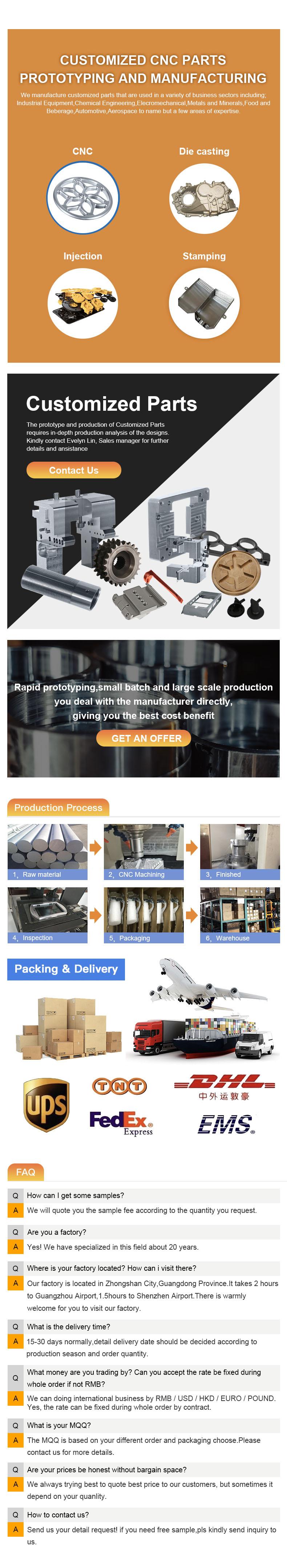 cnc machining part factory