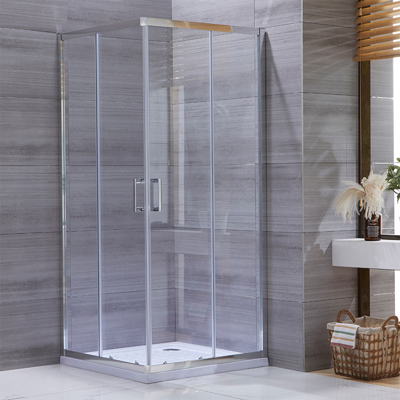 half wall shower enclosure
