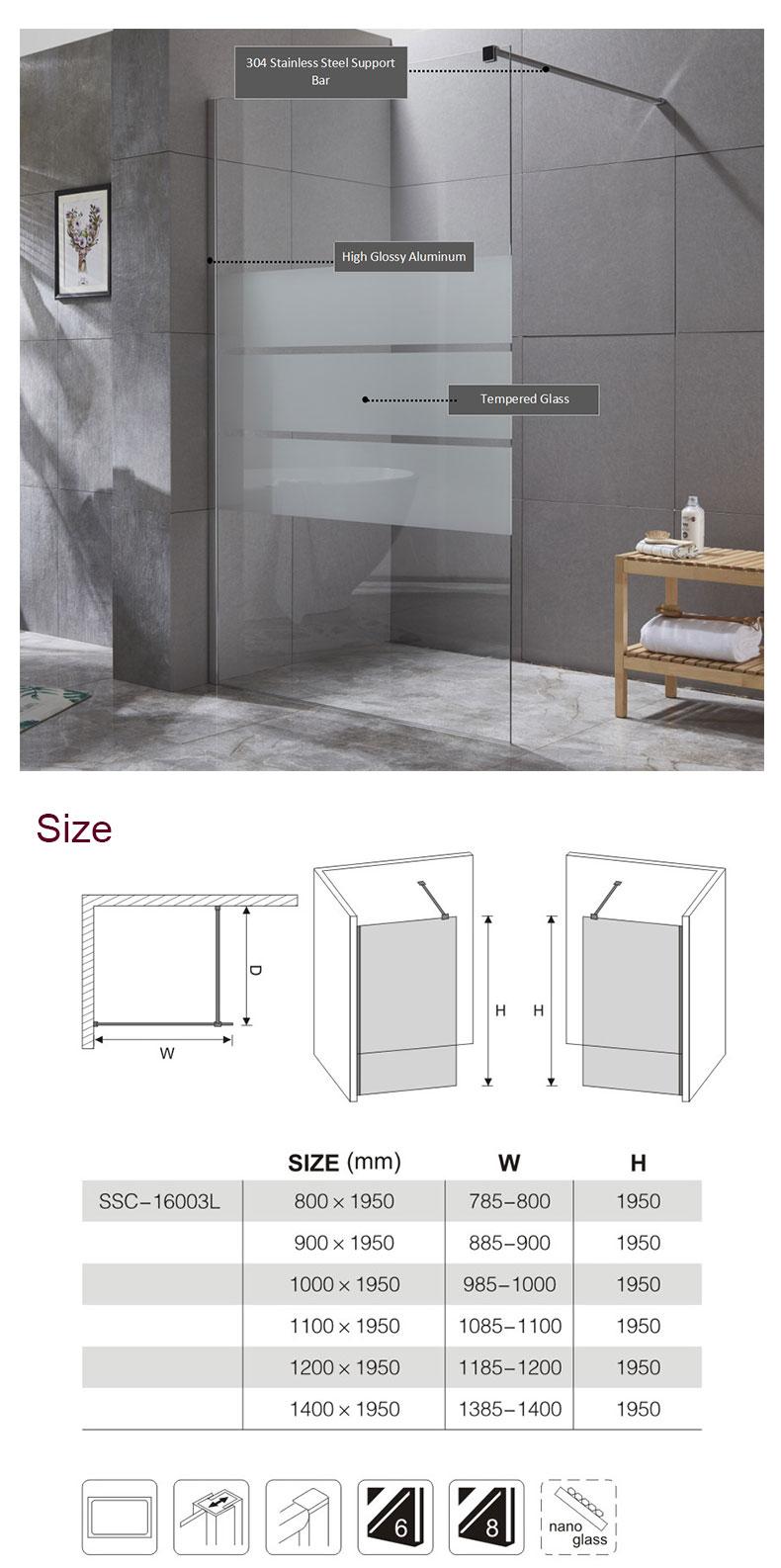 Safty Glass Walk-in Shower Enclosure manufacturers