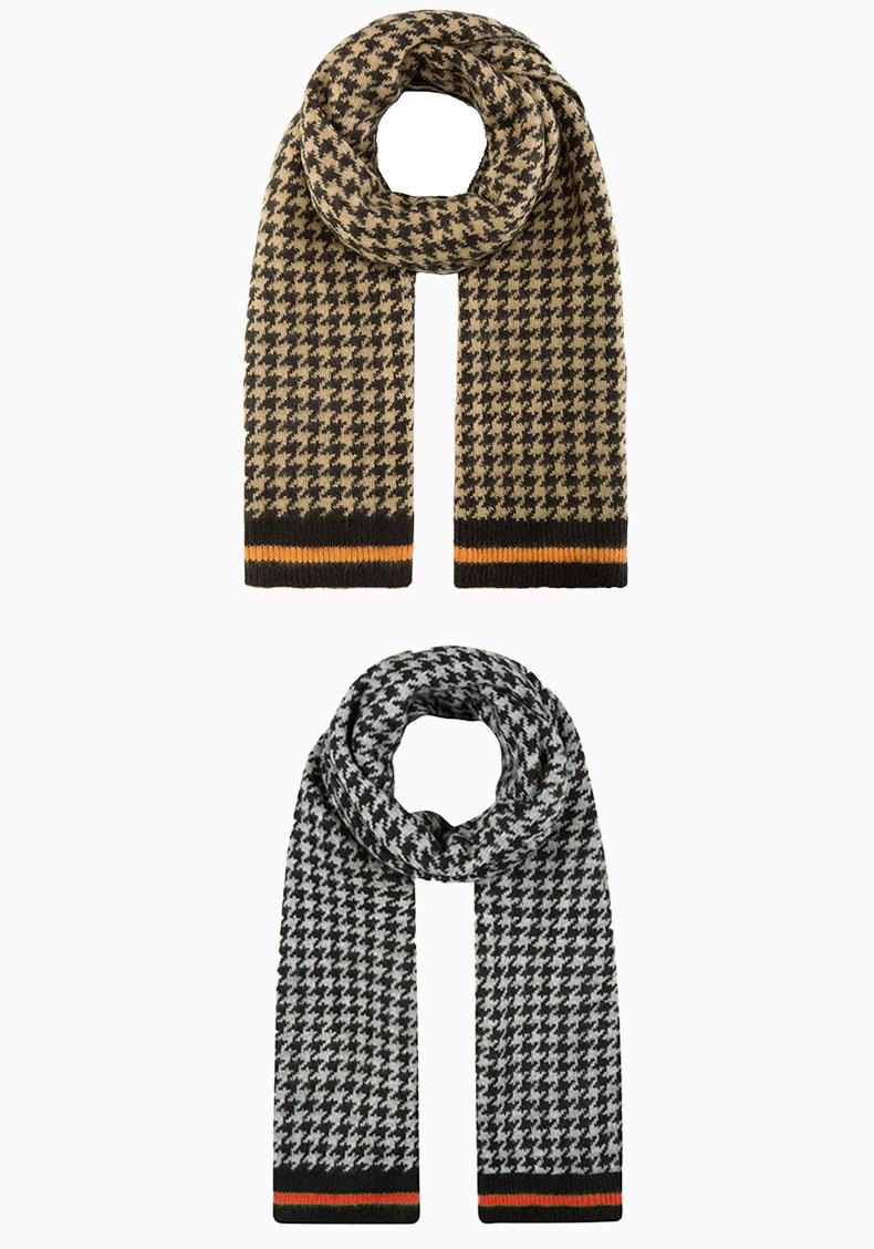 custom knit wool scarf