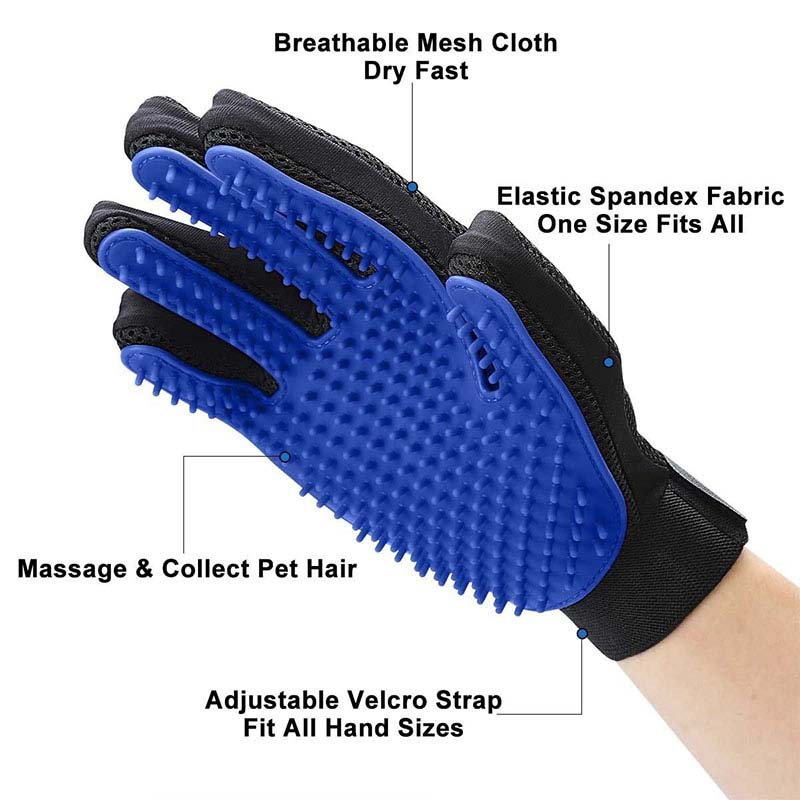 Pet grooming gloves product