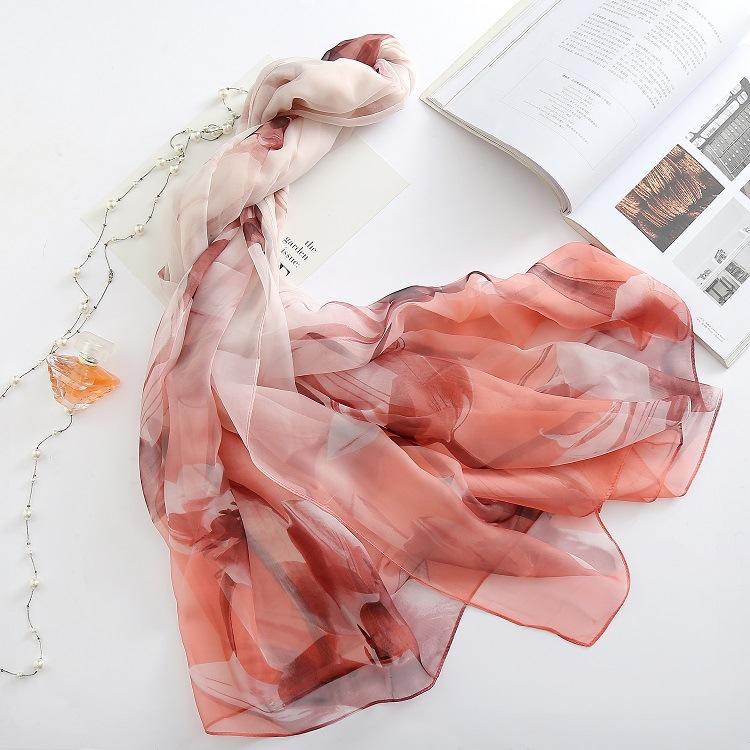 Large printing emulation silk scarf