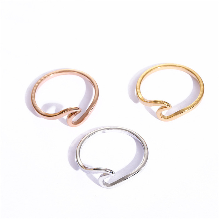 big wave stainless steel ring