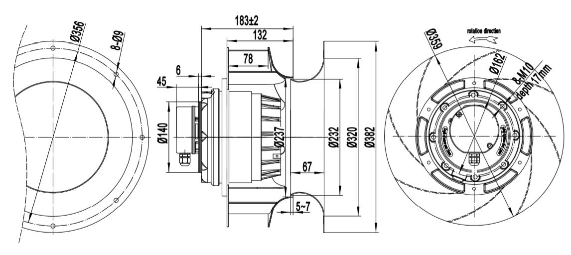 centrifugal blower industrial fan