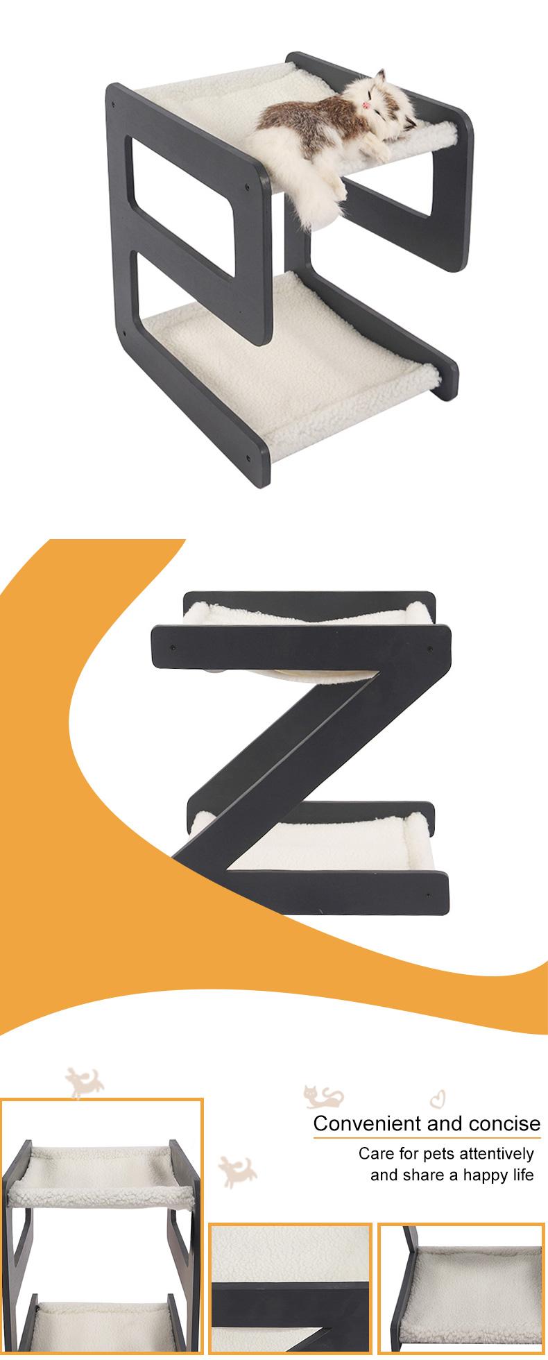 double decker alphabetic cat bed pet product