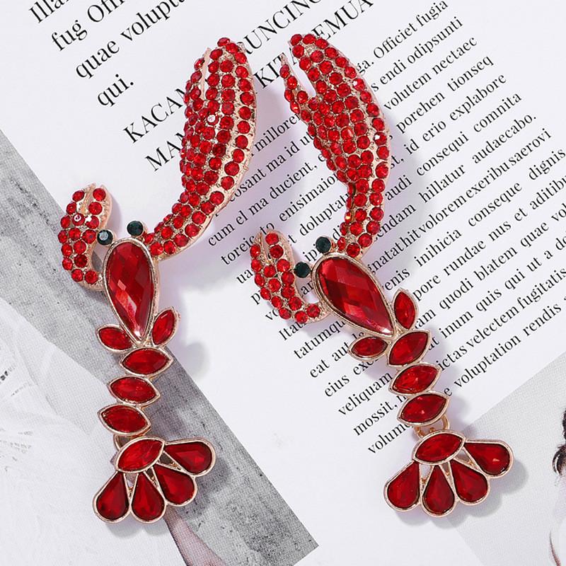 Diamonds Lobster Earrings  4