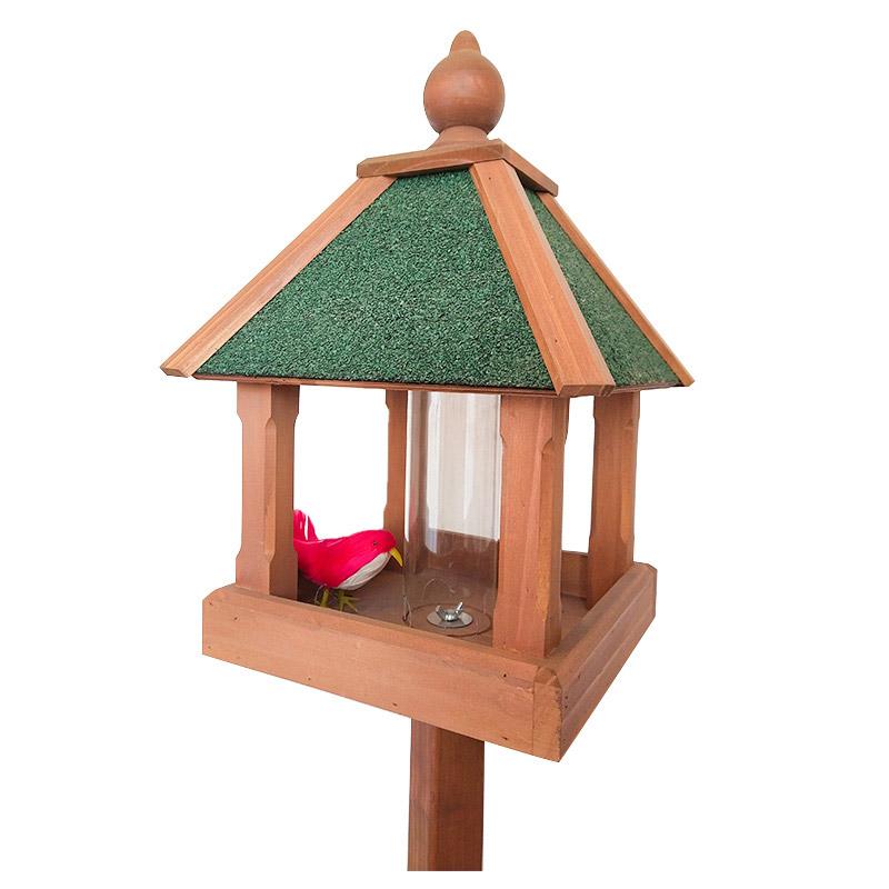 Outdoor floor red cedar bird feeder pet supplies