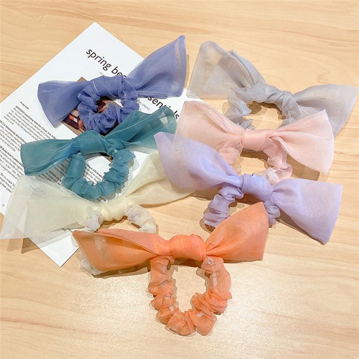 Organza bow hair accessories