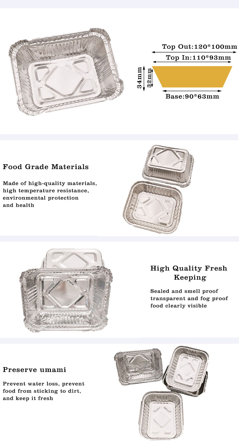 Small aluminium foil trays with lids Manufacturers
