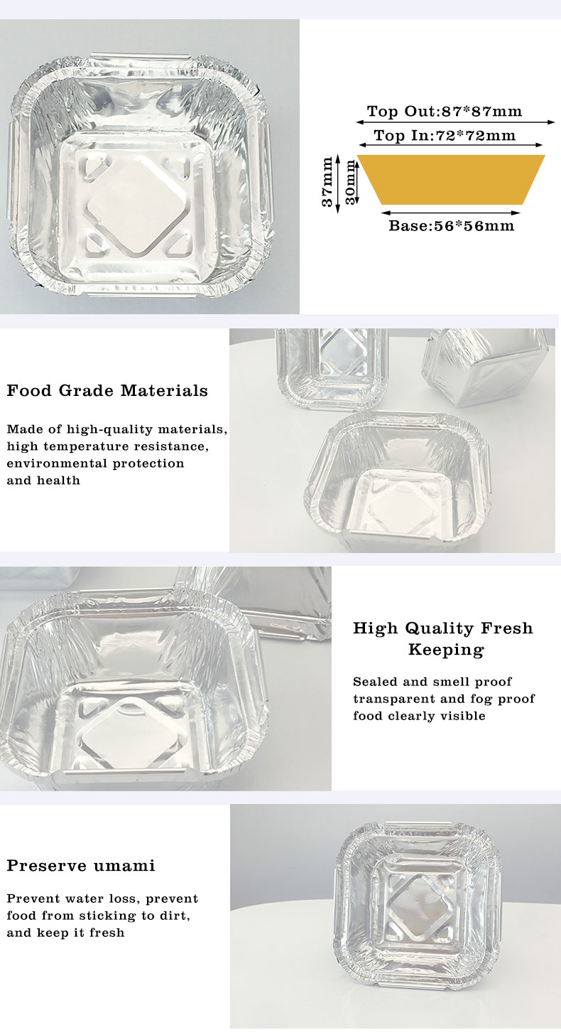foil containers with lids wholesale