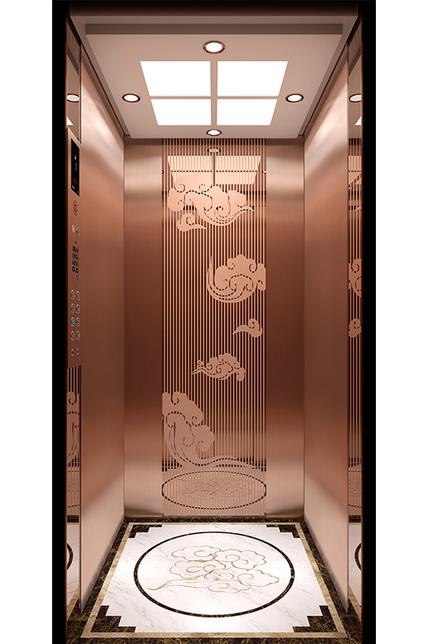 Rose gold Mirror Etching Home Elevator
