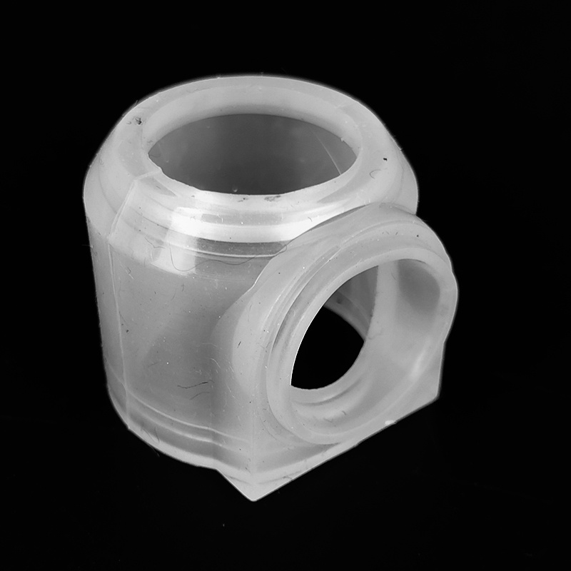 High quality custom white plastic injection thread part