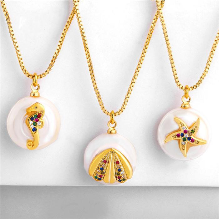 Ocean Wind Pearl Pendant Necklace