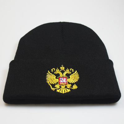 Embroidery knitted cap