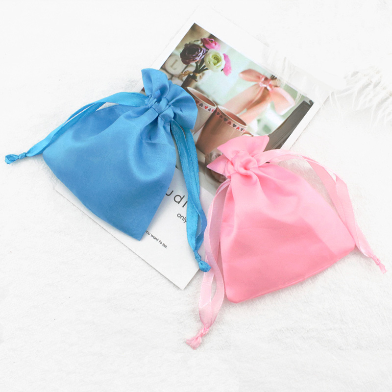 Satin fabric gift bag