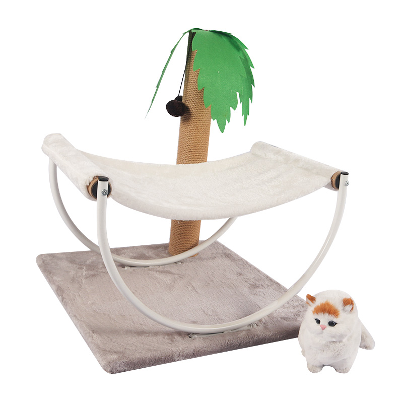 Double decker cat bed with coconut tree sisal column