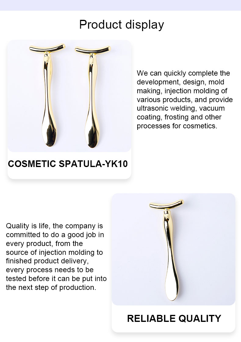 Beautiful golden Cosmetic spatula
