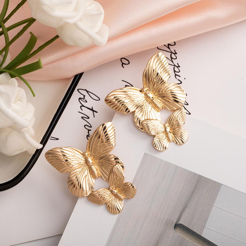 Metal butterfly earrings